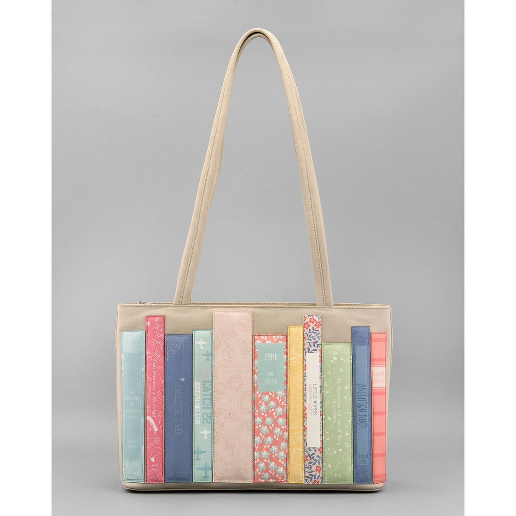 Yoshi-Bookworm-Shoulder-Bag-Cream-Podarok