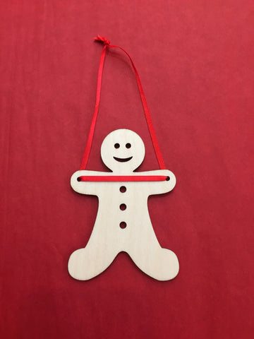 Artcuts Birch Gingerbread Man Christmas Decoration