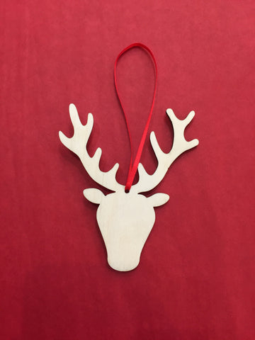 Artcuts Birch Stag Head Christmas Decoration