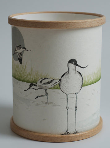 A Northern Light Avocet Candle Cover
