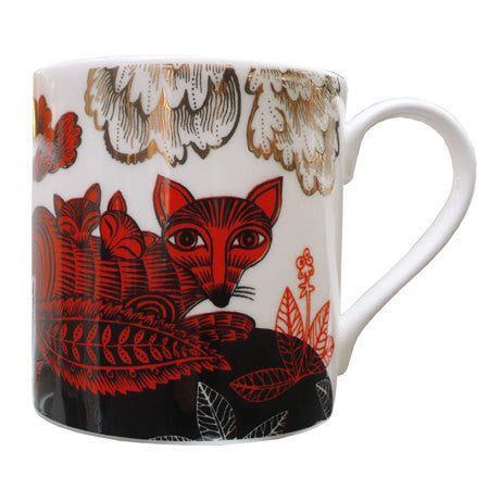 Lush Designs Fox & Cubs Mug Red
