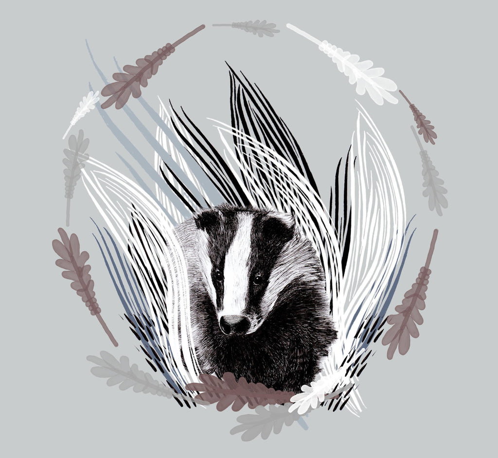 A Northern Light Badger Circle Candle Cover