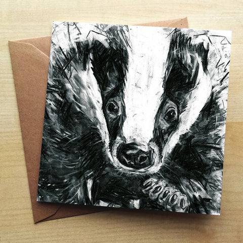 Wraptious Badger Greeting Card
