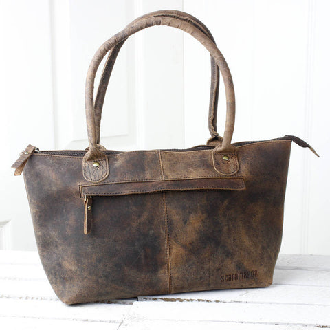 Scaramanga Buffalo Leather Bella Handbag