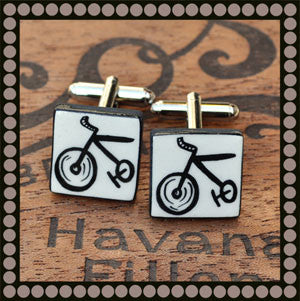 Bicycle Image Cufflinks Mery Fellows
