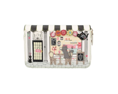 Vendula Biscuit Shop Medium Zip Wallet