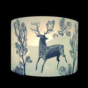 Lush Designs Blue Stag Lampshade