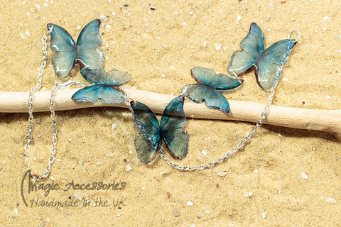 Acdria Blue Morpho Necklace