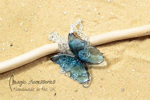 Magic Accessories Blue Morpho Pendant Necklace