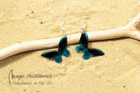 Magic Accessories Blue Priam Butterfly Earrings