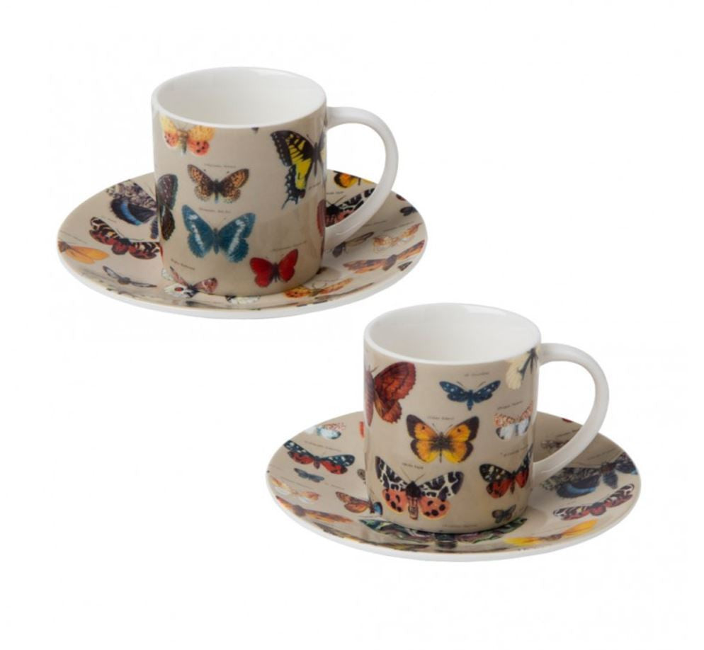 Cubic Biologica Butterfly Collection Espresso Set