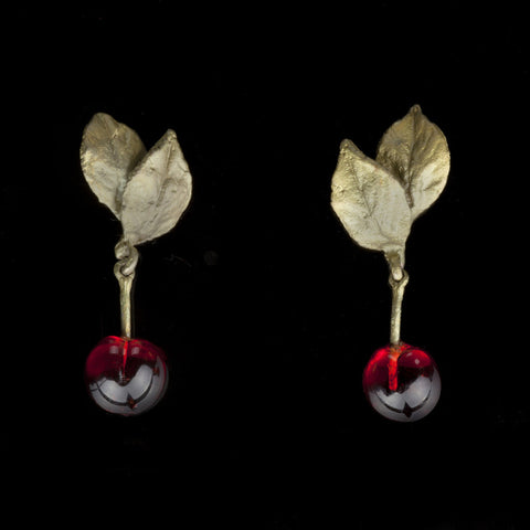 Michael Michaud Cherry Drop Earrings