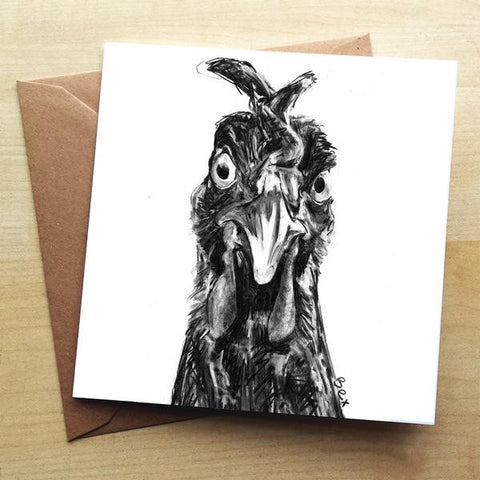 Wraptious Chicken Greetings Card