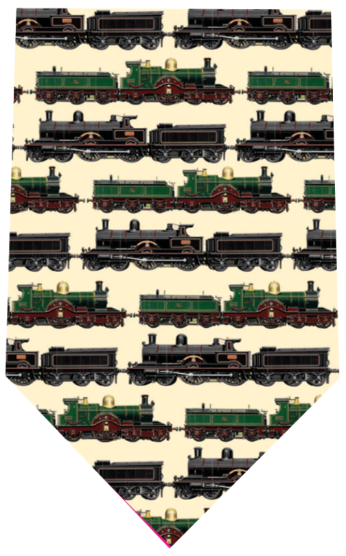 Fox And Chave Classic Trains Tie