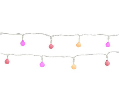 Kikkerland Colour Pop String Lights In Pink