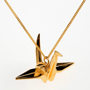 Origami Jewellery Crane Necklace