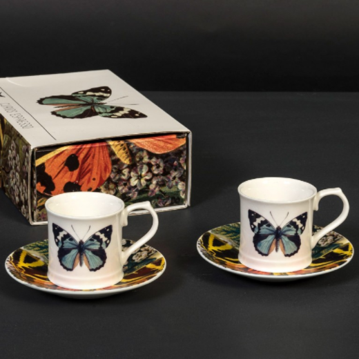 Cubic Curio Butterfly Espresso Set