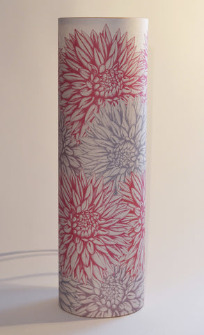 A Northern Light Pink Dahlia Table Lamp