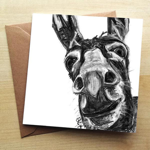 Wraptious Donkey Greeting Card