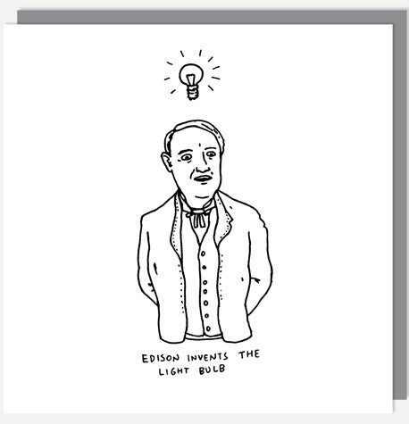 UStudio Edison Lightbulb Greetings Card