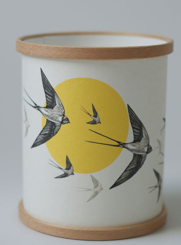 Flying Swallows Candle Cover