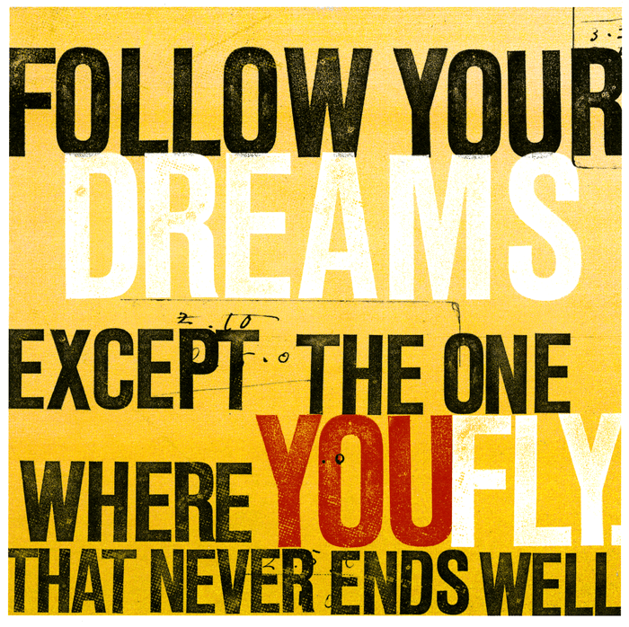 UStudio Follow Your Dreams Greetings Card