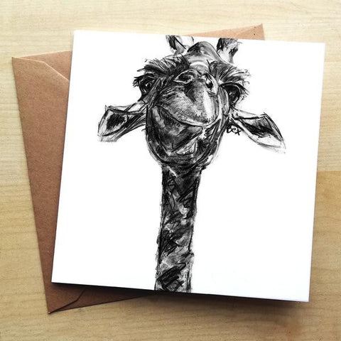Wraptious Giraffe Greeting Card