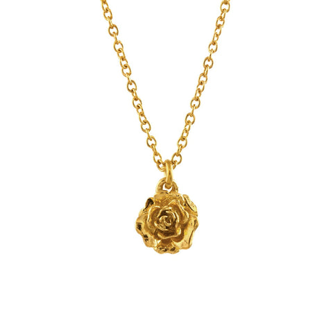 Alex Monroe Rosa Damasca Necklace In Gold