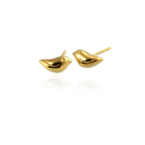 Jana Reinhardt Gold Tiny Sparrow Stud Earrings