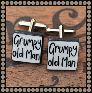 Grumpy Old Man Cufflinks