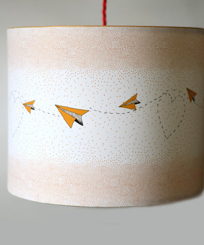 A Northern Light Hearts, Dots & Paper Planes Lampshade