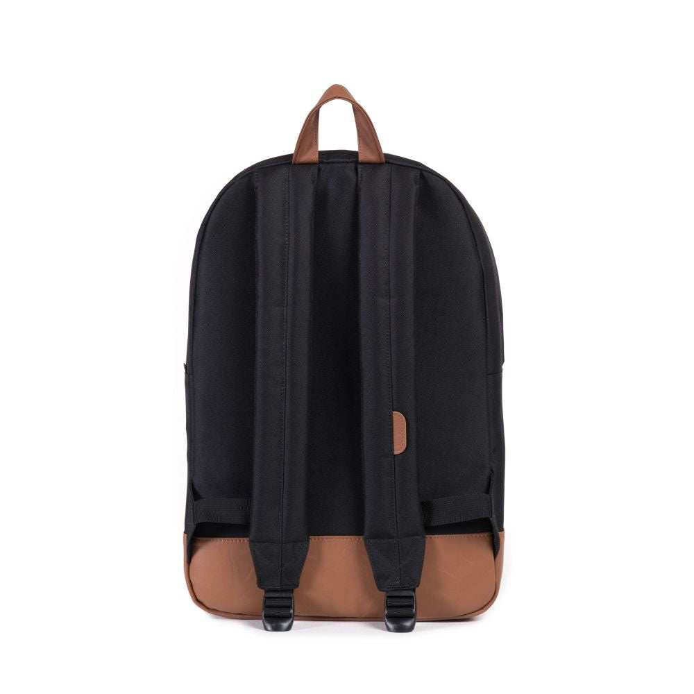 Herschel Heritage Backpack In Black And Tan