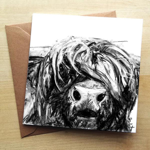 Wraptious Highland Cow Greeting Card