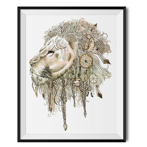 Wraptious Lion's Mane A3 Print