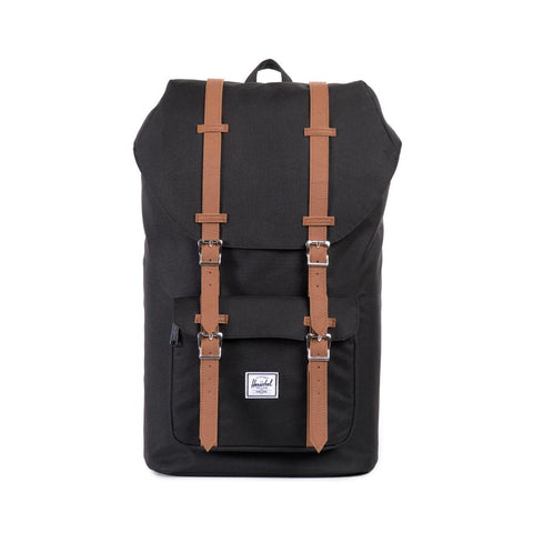Herschel Little America Backpack In Black And Tan