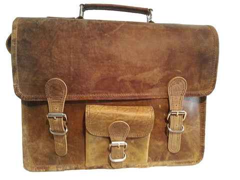 Scaramanga Medium Wide Satchel Handle And Front Pocket