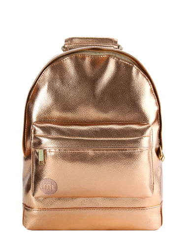 Mi-Pac Rose Gold Metallic Mini Backpack