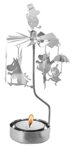 Moomin Silver Rotary Candle Holder