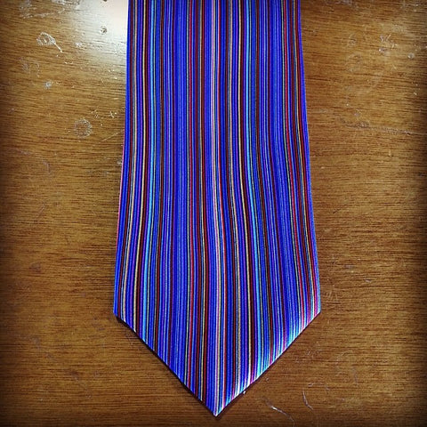 Fox and Chave Multi Stripe Silk Tie