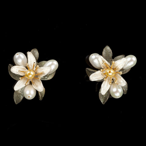 Michael Michaud Orange Blossom Stud Earrings