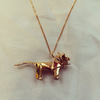 Origami Jewellery Lion Necklace