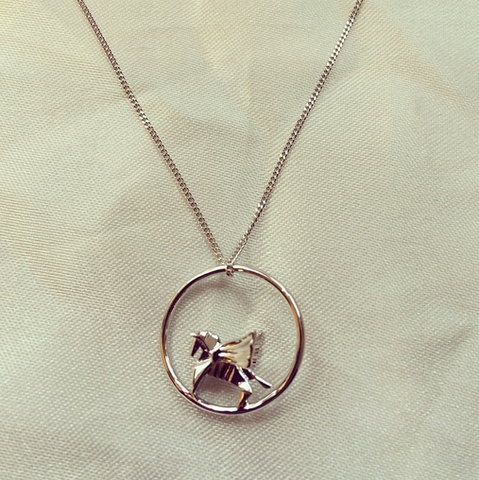 Origami Jewellery Circle Pegasus Necklace