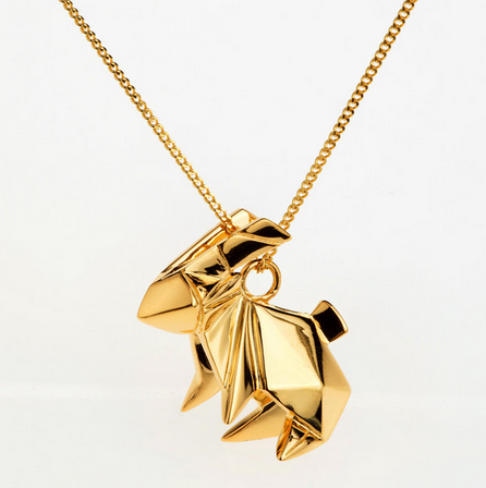 Origami Jewellery Rabbit Necklace