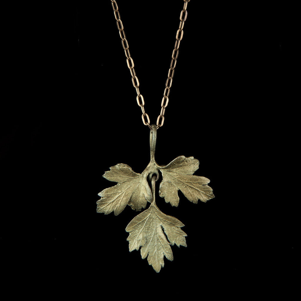 Michael Michaud Parsley Pendant Necklace