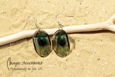 Magic Accessories Peacock Feather Earrings