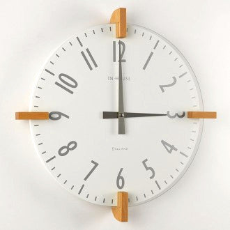 Peg Wall Clock - White