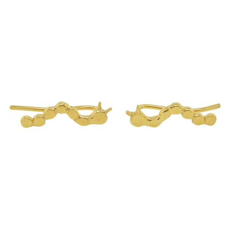 Phoebe Gold Vermeil Caterpillar Stud Earrings