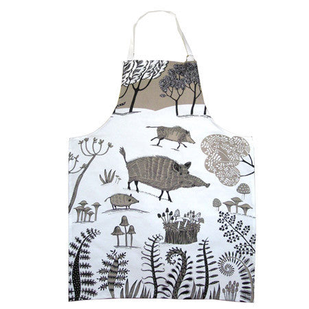 Lush Designs Cream Wild Pig Apron