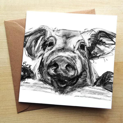 Wraptious Pig Greeting Card