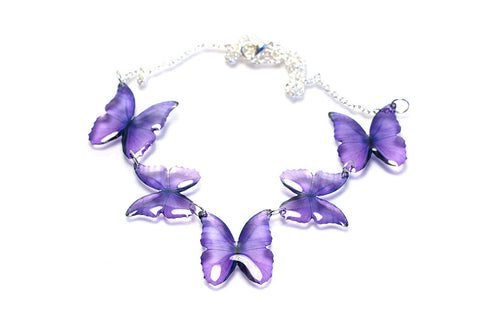 Acdria Purple Morpho Necklace